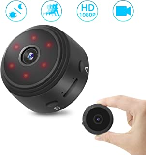 Mini Cámara Espía Oculta HD 1080P 120°Gran Angular Grabadora de vídeo Cámara con visión Nocturna por Infrarrojos/detección de Movimiento