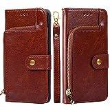 Forhouse SamsungGalaxyM10 PU Hülle,Ledertasche Hülle, Premium PU Leder Schutzhülle Flip Magnet Brieftasche Kartenfach Schlanke stoßfest Schutzhülle für SamsungGalaxyM10 PU (Brown)