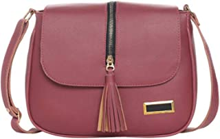 icemart® Women Sling Bag Maroon ColorIC-0064