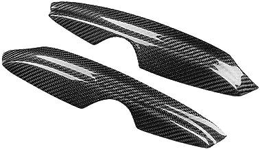 Qii lu 2 piezas cubierta de párpados de cejas de fibra de carbono para Golf 4 MK4 IV 1999-2004