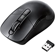 Elecom Wireless BlueLED mouse [2.4GHz ? USB] fast scrolling featured (5 button Black) M-BL23DBBK,$37.34