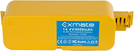 Exmate Upgraded 4800mAh Battery Ni-MH 14.4V Replace 11700 17373 Compatible with iRobot Roomba 400 Series 405 410 415 440 4000 4100 4102 4110 4130 4150 4210 4220 4230 4260 4270 4290 4300 4310 4905