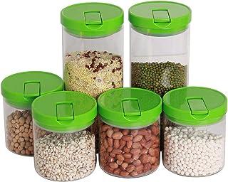Lot de 6 boîtes de rangement en verre scellé résistant à la chaleur pour la cuisine