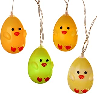 Szxc Easter Chick String Lights - Flash/Steady On 10 FT 20 LEDs - Battery Operated - Indoor Decorative Fairy Twinkle Lights