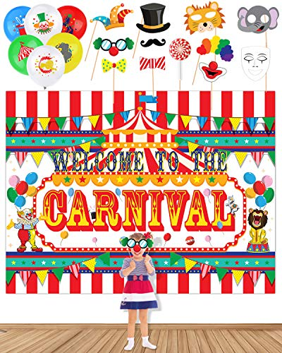 Carnival Birthday Backdrop & Props
