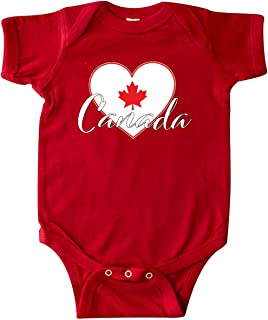 inktastic Canada-Heart and Maple Leaf Infant Creeper