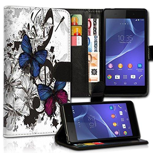 wicostar Wallet Book Style Flip Handy Tasche Hülle Schutz Hülle Schale Motiv Etui für LG L Bello - Variante UMV28 Design8