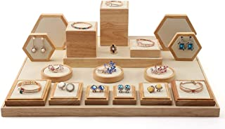 Jewellery Boxes Necklace Frame Jewelry Display Stand Ring Tray Earring Holder Bracelet Stand Brooch Holder Window Jewelry Props Tray Jewellery Boxes & Organisers (Color : Beige, Size : 55 * 45cm)