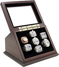حلقه قهرمانی نمایش جعبه جعبه با 7 سوراخ و پنجره شیشه ای غرق شده برای هر قهرمانی حلقه ها - شمارنده ها گنجانده نشده است