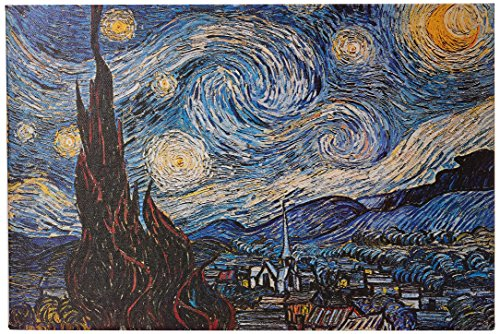 iCanvasART The Starry Night Canvas Art Print by Vincent Van ...
