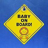 JKGHK Adhesivo de vinilo para coche con texto en inglés 'Baby On Board'