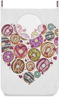 N\A Panier à Linge Suspendu Sac Coloful Donut Sweet Porte/Mur/Placard Suspendu Grand Panier à Linge pour Organisateur de R...