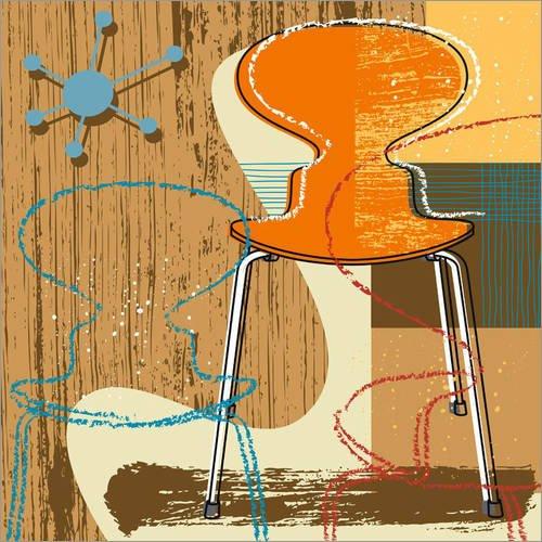 Posterlounge Hartschaumbild 40 x 40 cm: Ant Chair von Thomas Marutschke