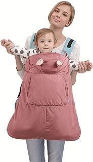 Funda para mochila portabebé A prueba de viento Impermeable Encapuchado Invierno cubierta del portabebés,Rosa oscuro