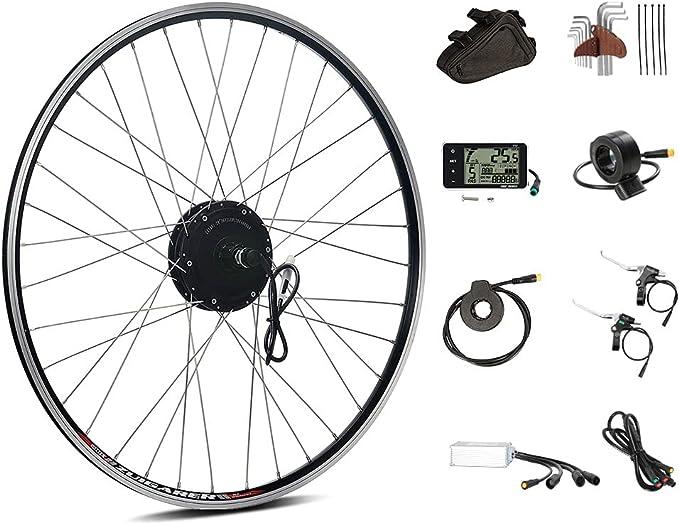 "Season 26"" E-Bike Conversion Kit 36V 350W with Rear Wheel Motor in Black fit for Cassette"