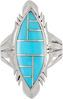 Turquoise Ring Sterling Silver 925 Genuine Gemstones (SELECT color)