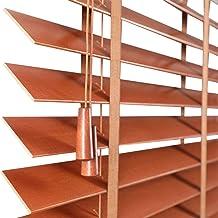 Van hoge kwaliteit Houten Venetiaanse jaloezieën met banden en koord, 110 cm / 120 cm / 150 cm breedte, slaapkamer/woonkam...