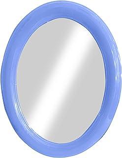 Baal Lightweight Oval Shape Wall Mirror Blue 30 Gram Pack of 1