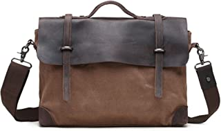 "Men's Accessories Office 9.7"" Tablet Handbag Casual Business Briefcase Shoulder Messenger Crossbody Outdoor Recreation (Color : Khaki)"