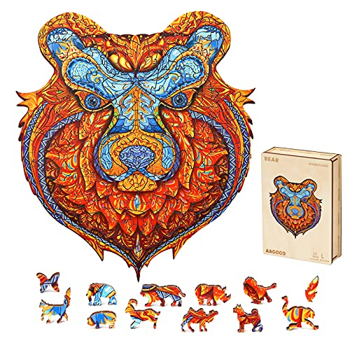 Wooden Jigsaw Puzzle Bear Now $10.79