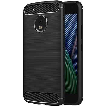 AICEK Funda Moto G5 Plus, Negro Silicona Fundas para Motorola Moto ...