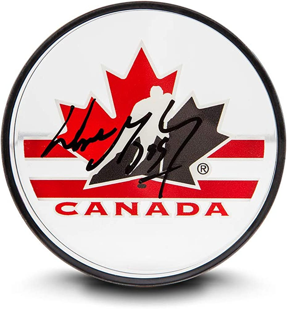 unisex Upper Deck Wayne Gretzky Boston Mall Canada Team Puck Acrylic