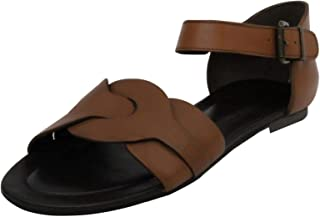Salt N Pepper Women's Brown Leather Fashion Sandals - 37 EU