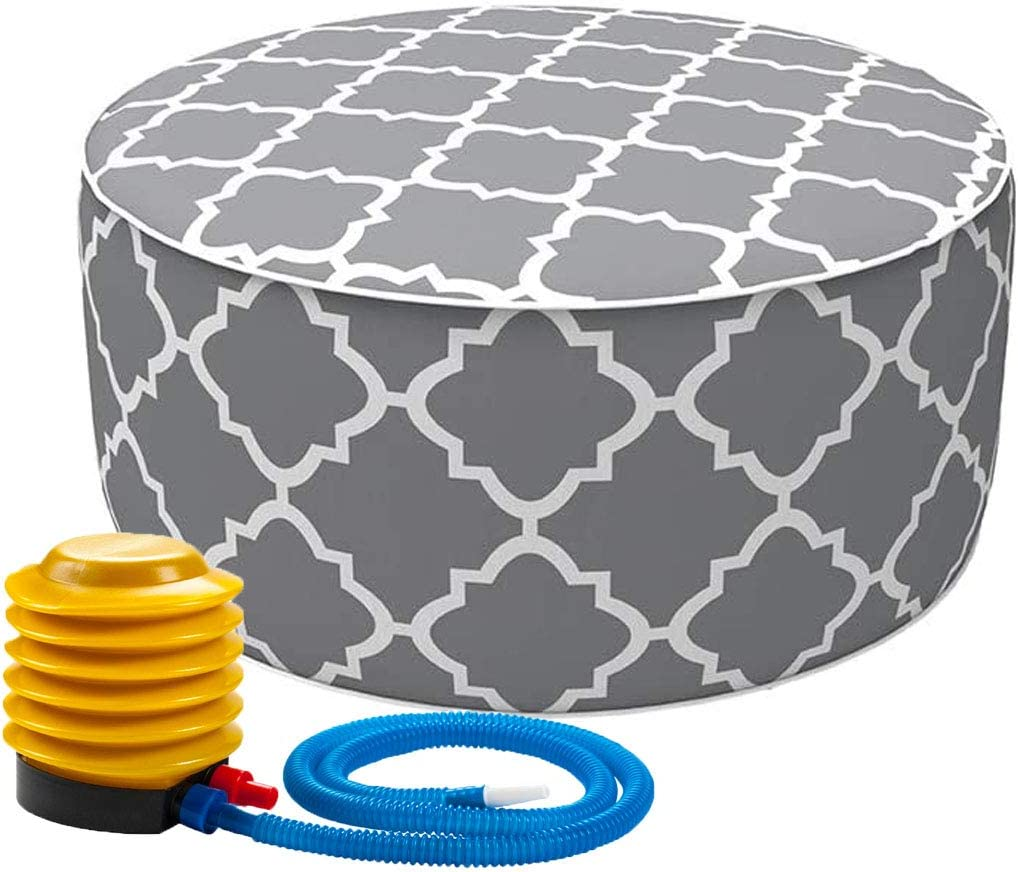 IN4 Care Inflatable Ottoman footrest Pum Portable Stool with Max 89% OFF air New sales