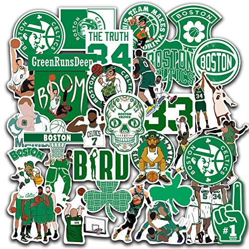 Boston Sticker Celtics Set of 35 Decal 2' Boston Decal Celtics