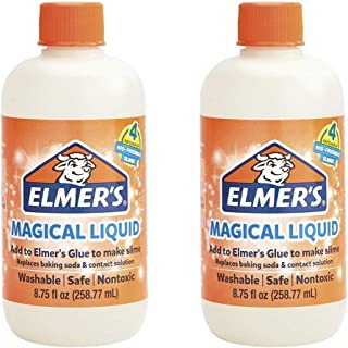 Elmers Glue Slime Magical Liquid Activator Solution, 8.75 fl. oz. Bottle - Great for Making Slime, 2 Pack