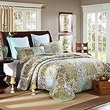 Juego de ropa de cama con colcha acolchada de lujo, 100% algodón, edredones de retazos, tamaño king, 3 piezas, mantas, sábanas multiusos (1 funda nórdica 2 fundas de almohada), 230 250CM1 + 50 70CM2