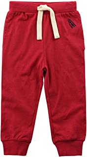 Teach Leanbh Toddler Baby Boys Girls Sweeatpants Cotton Pure Color Rocket Active Jogger Pants with Drawstring 1-6T