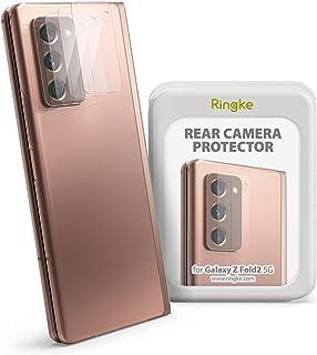 لاصقة حماية زجاج للكاميرا من رينجكي المقاومة للصدمات لهاتف سامسونج جلاكسي زد فولد 2 - شفافة (3 قطع)