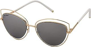 Sky Vision Cat Eye Sunglasses for Women, Black Lens, AE10482