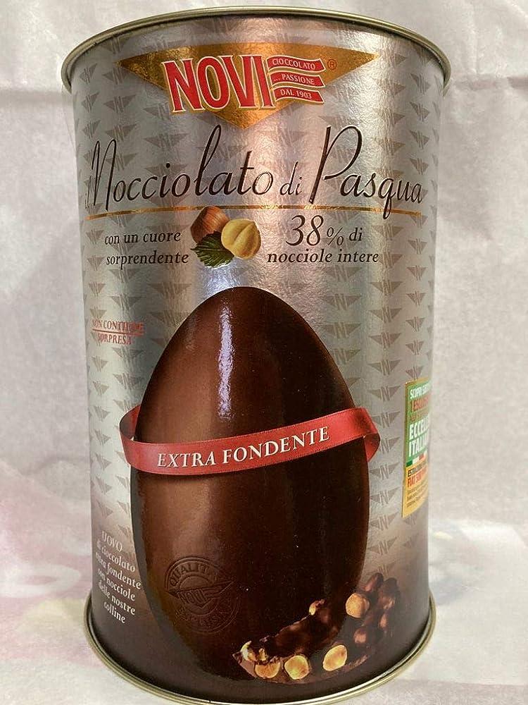 Novi ,uovo di cioccolato nocciolato 370gr,senza glutine