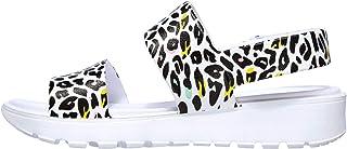Skechers FOOTSTEPS - Leopard Print Molded Double Strap Sling Back with Luxe Foam womens Sandal