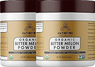 Naturevibe Botanicals Organic Bitter Melon Powder (16oz) (2 Pack of 8oz Each) - Momordica Charantia | Non GMO & Gluten Fre...