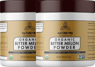 Naturevibe Botanicals Organic Bitter Melon Powder (16oz) (2 Pack of 8oz Each) - Momordica Charantia | Non GMO & Gluten Free | Herbal Supplement [Packaging May Vary]