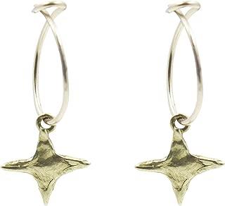 Pame Design Star Hoop Earrings - Celebrity Favorite Bohemian Astrological Planet and Stars Inspired Beach Jewelry, The Best Minimalist, Edgy and Bold Handmade Unique Greek Lore Hoop Earrings