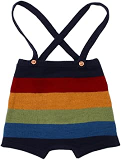 Baby Romper Girls Knitted Suspenders Short Pants Toddler Sling Rompers Jumpsuit Clothes