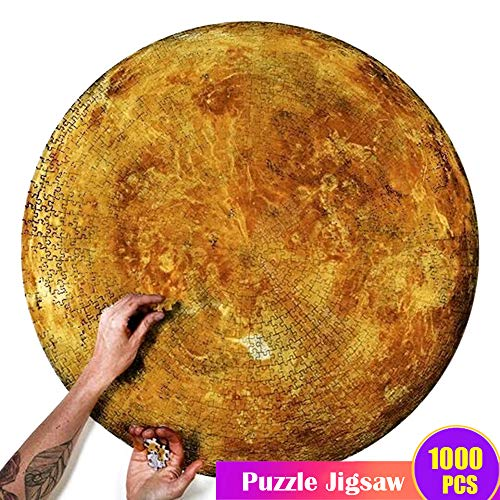Puimentiua Puzzles Universe Planet Jigsaw Puzzles 1000 Pieces for Adults Kids Solar System Space Educational Toy, Science Fiction Intellectual Decompressing Fun Family Game