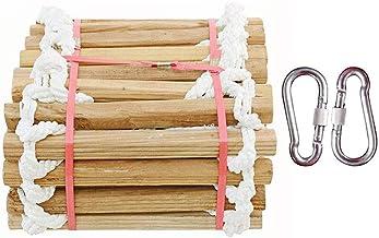 Escalera de cuerda de escape de madera escalera de cuerda de rescate de rescate de emergencia de auto-rescate port/átil durable,5m