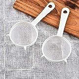 CONSTR Kitchen Handheld Plastic Screen Mesh Tea Leaf Strainer Flour Sieve Colander - Ideal to Strain...