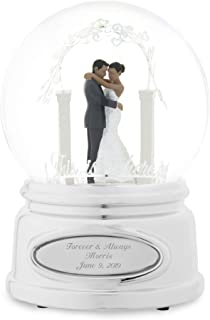 Things Remembered Personalized Wedding Couple Snow Globe with Engraving Included