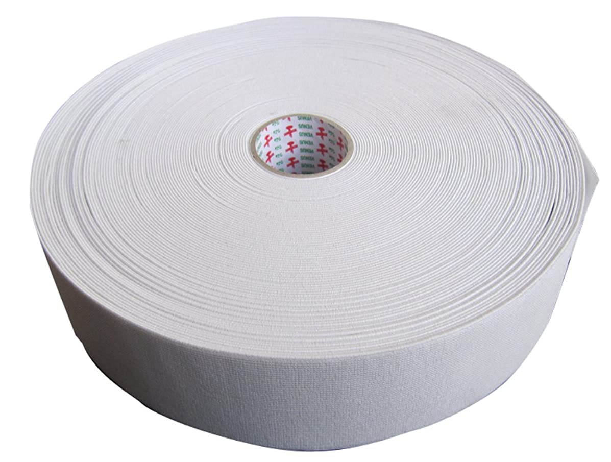 Venus 2 inch Wide Elastic Band Braid for Sewing Factory Strength White 34yard Roll