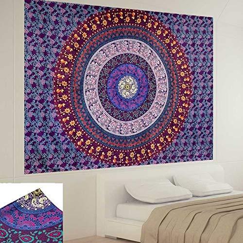 Mandala India Tapiz Colgante de Pared de la Playa de Arena Throw Manta Manta Tienda de campaña Viaje Colchón de Bohemia Dormir cojín de la tapicería tapices Tapiz (Color : 2, Size : 150cmX130cm)