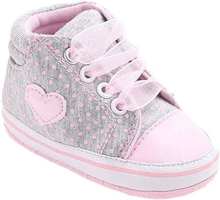 Weiyun Baby Girl Canvas Shoe Heart-Shape Shoes Anti-slip Soft Sole Toddler  Sneaker d15a402706e2