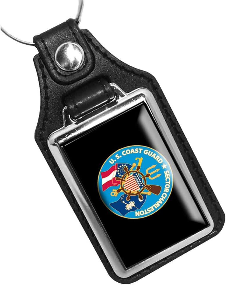 Brotherhood United States Coast Guard Sector Charleston Keychain Key Holder Key Ring for Men Heavy Duty Car Keyring for Men and Women