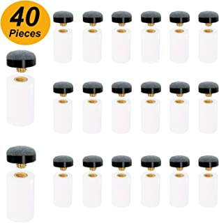 Winorda 40 Pieces 13mm Cue Tips Pool Billiard Cue Tips Screw-on Tips Replacement with White Pool Cue Stick Ferrules for Snooker