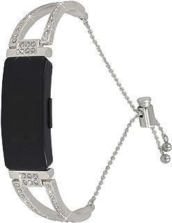 Bracelet Inspire, BFISOD Unique Strass en Métal Bracelet de Montre Bracelet de Remplacement pour Femme avec Fermoir Réglab...